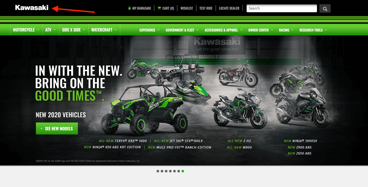 kawasaki website