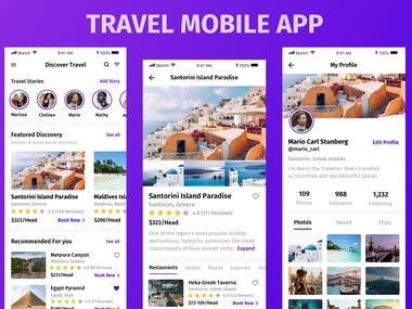 Created the Insta Travel App