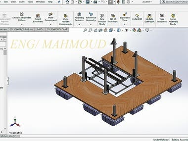 6000 lb Lifting mechanism for several Boat types.  The project included full structure/working drawing, Full analysis, and calculations for the lifting mechanism. With full user manual and manufacturing report.