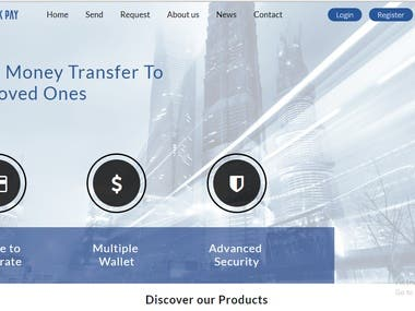 this website is used for money transfer wallet purpose, user can register and deposit money to their account and transfer and manage other many things, all data are managing from backend admin, admin can see all users transactions and dispute and help to user