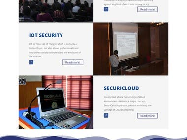 Wordpress website for a local university security club. Website URL: https://securinets-isi.com