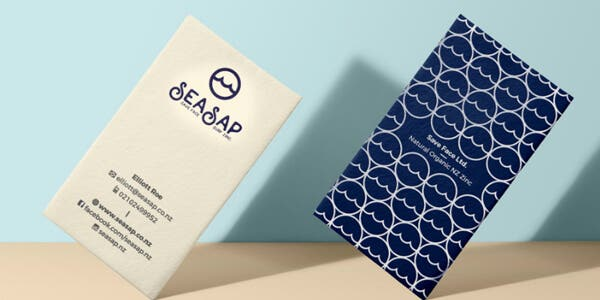 Business card with pattern
