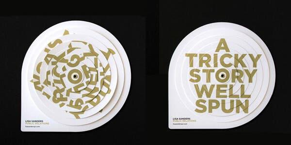 Fun spin design for modern business card