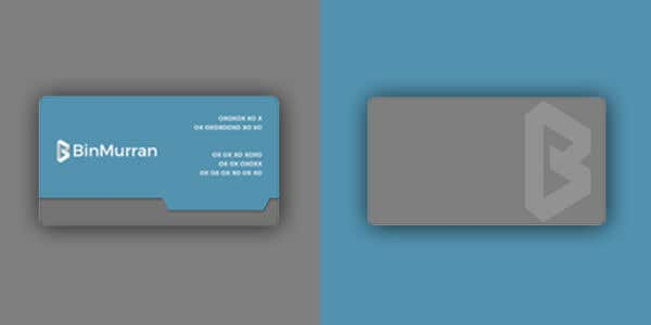 Sleeve design for modern business card""