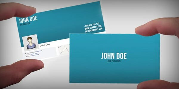 Facebook profile design for modern business card