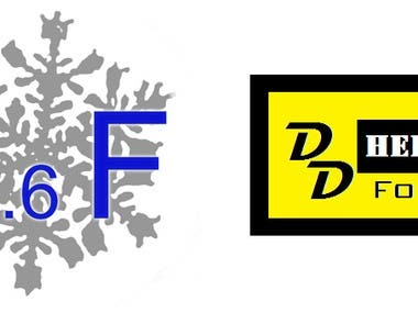Sample skills in photoshop, document restoration and logo design