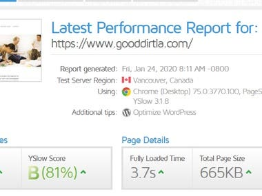 In crease site score on gtmetrix and pagespeed, reduced loading time