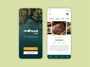Screen Design for Food Vibe
