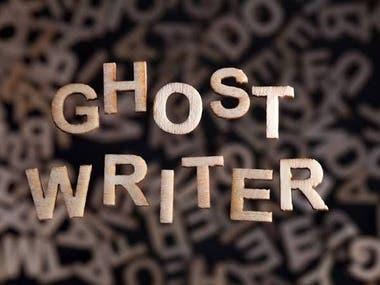 As a professional ghostwriter, I will write copy like articles, speeches, books, blog posts, email newsletters, web copy, etc. and won't be credited for that work. The credit goes to you or someone in that company or business that hired you. None of your work won't be credited to me.