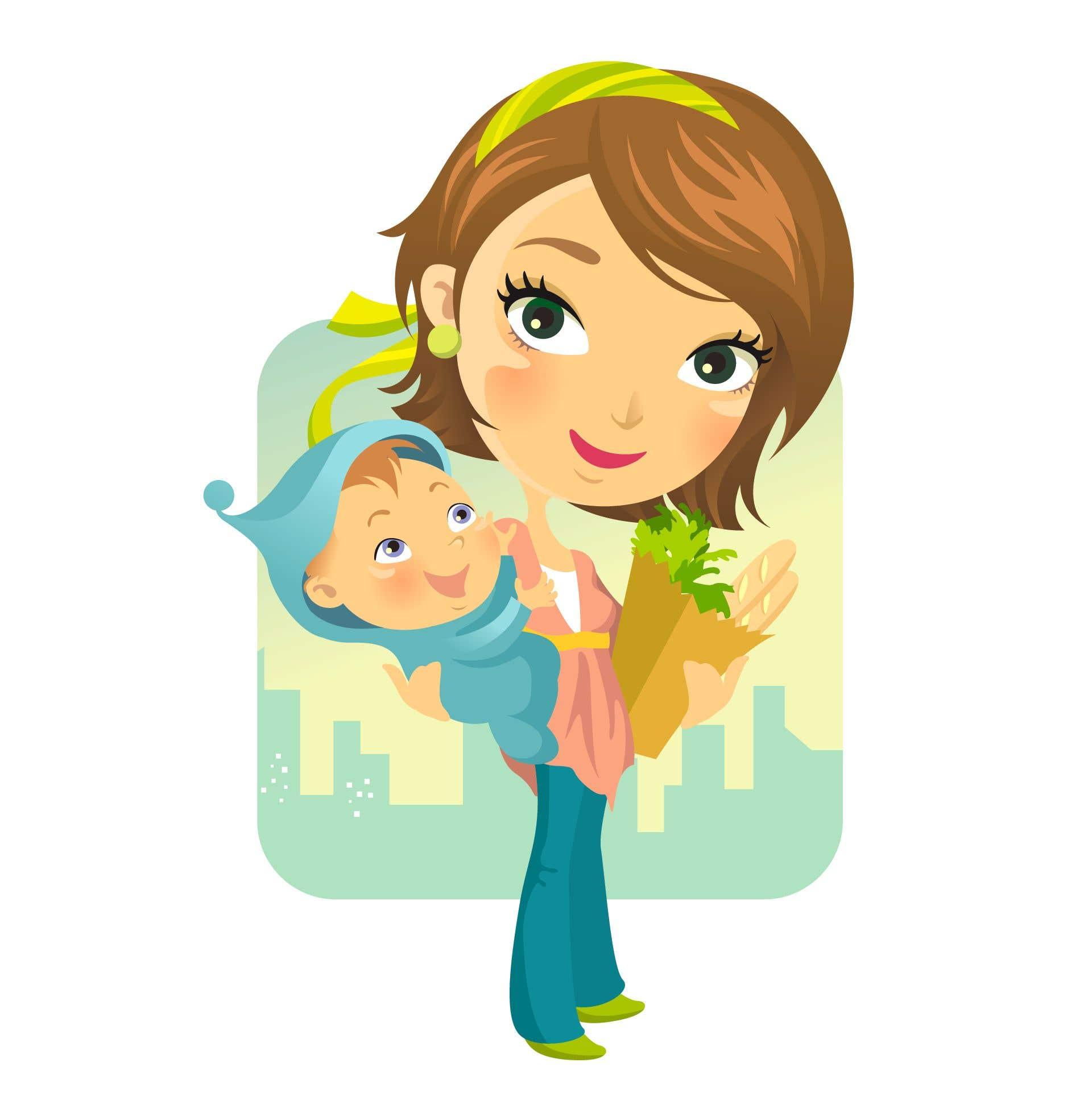 Картинки для детей мама на прозрачном фоне