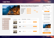Hotel booking website mockup 2